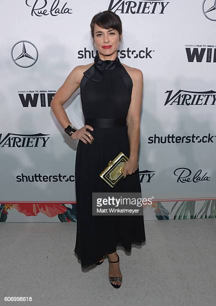 Actress Constance Zimmer attends Variety and Women in Film's PreEmmy Celebration at Gracias Madre on September 16 2016 in West Hollywood California