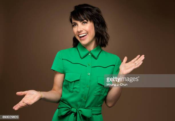 Actress Constance Zimmer is photographed for Los Angeles Times on May 30 2017 in Los Angeles California PUBLISHED IMAGE CREDIT MUST READ Myung J...