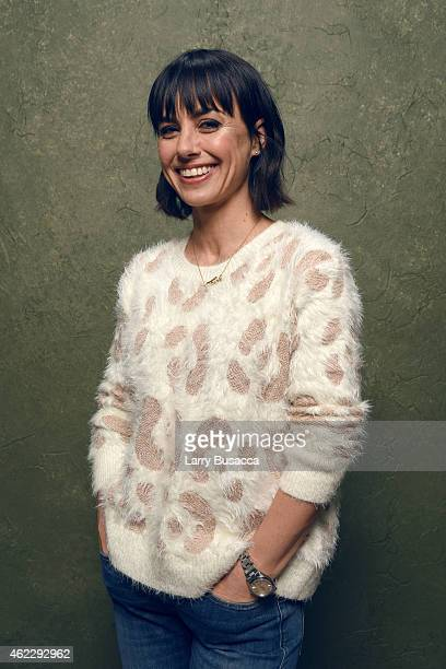 Actress Constance Zimmer of 'Results' poses for a portrait at the Village at the Lift Presented by McDonald's McCafe during the 2015 Sundance Film...