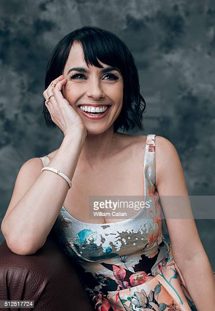 Actress Constance Zimmer poses for a portrait at the 18th Costume Designers Guild Awards at The Beverly Hilton Hotel on February 23 2016 in Beverly...