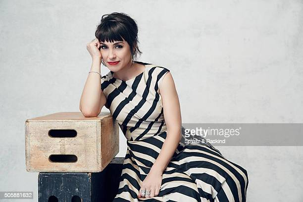 Actress Constance Zimmer poses for a portrait during the 21st Annual Critics' Choice Awards at Barker Hangar on January 17, 2016 in Santa Monica,...