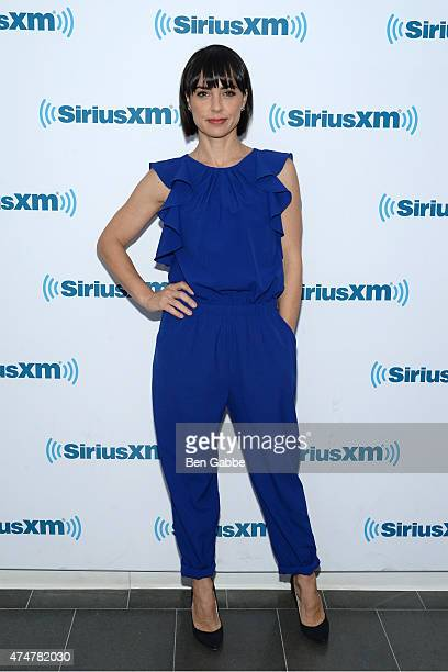 Actress Constance Zimmer visits at SiriusXM Studios on May 26 2015 in New York City
