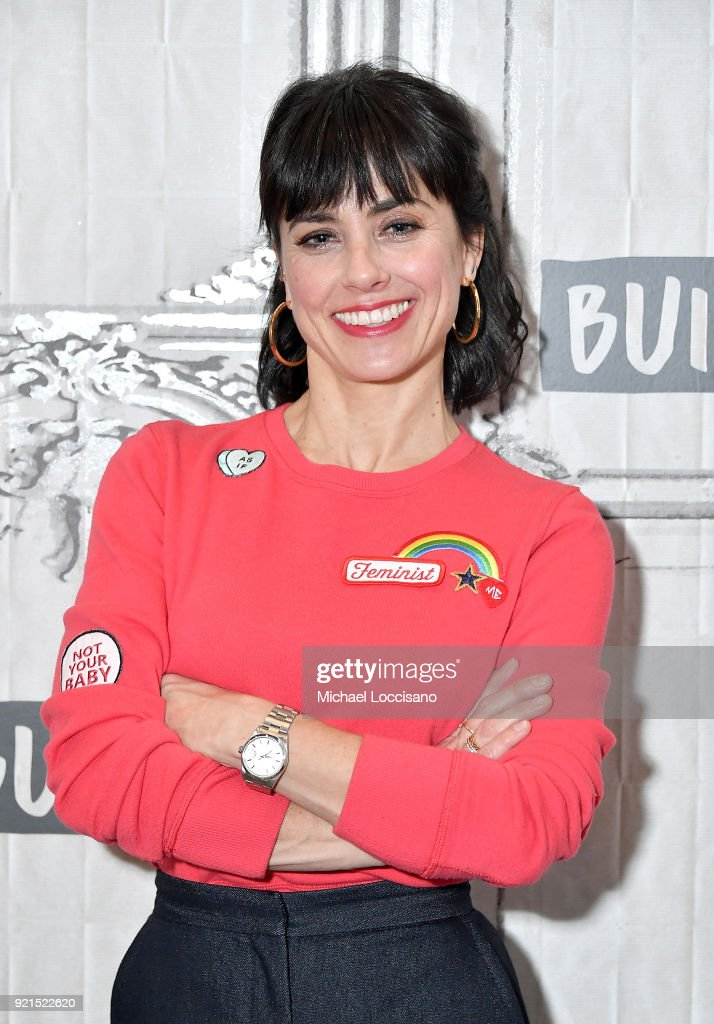 Actress Constance Zimmer visits Build Studio to discuss the show 'UnREAL' at Build Studio on February 20, 2018 in New York City.