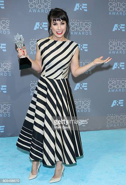 Actress Constance Zimmer winner of the award for Best Supporting Actress in a Drama Series for 'Unreal' poses in the press room during the 21st...