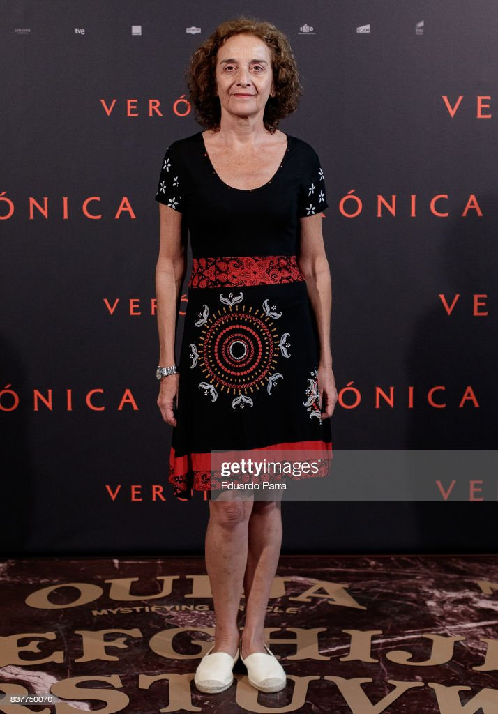 Actress Consuelo Trujillo attends a photocall for the film 'Veronica' at the Sony offices on August 23, 2017 in Madrid, Spain.