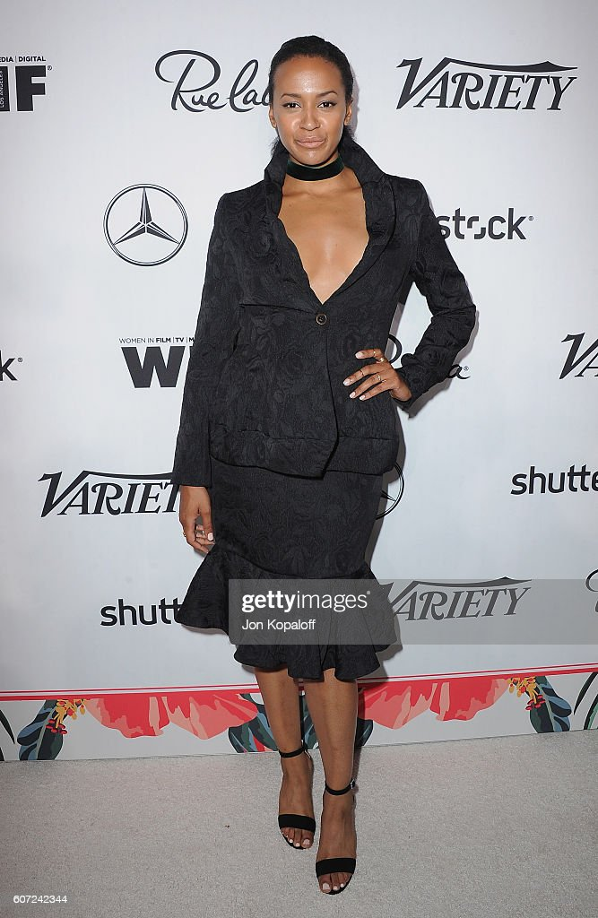 Actress Corbin Reid arrives at Variety And Women In Film's Pre-Emmy Celebration at Gracias Madre on September 16, 2016 in West Hollywood, California.