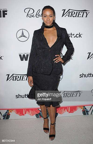 Actress Corbin Reid arrives at Variety And Women In Film's PreEmmy Celebration at Gracias Madre on September 16 2016 in West Hollywood California