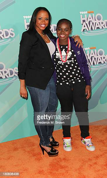 Actress Cori Broadus and her mother attends the Nickeloden TeenNick HALO Awards at the Hollywood Palladium on October 26 2011 in Hollywood California