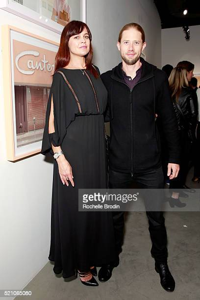 Actress Corina Marinescu and William Moore attend the Photo Femmes Exhibition Opening at De Re Gallery featuring the work of Ashley Noelle Bojana...