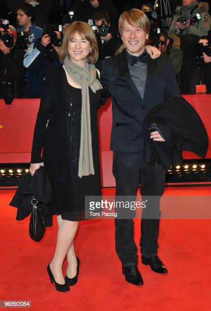 Actress Corinna Harfouch and guest attend the 'Tuan Yuan' Premiere during day one of the 60th Berlin International Film Festival at the Berlinale...
