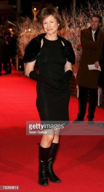 Actress Corinna Harfouch arrives to attend 'La Vie en Rose' Premiere and the Opening Night of the 57th Berlin International Film Festival on February...