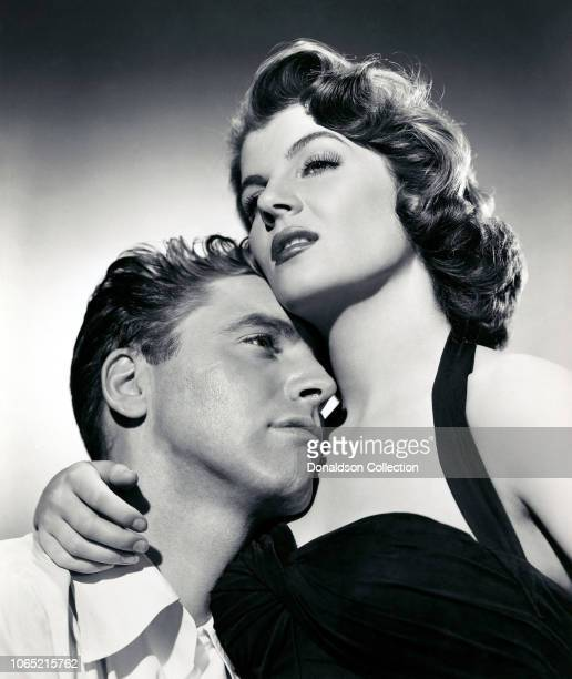 Actress Corinne Calvet and Burt Lancaster in a scene from the movie Rope of Sand