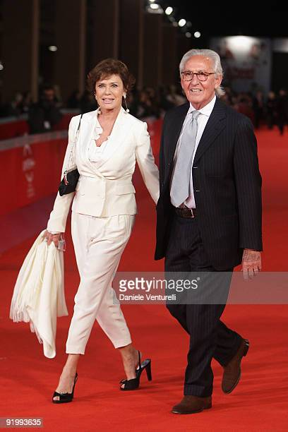 Actress Corinne Clery and Beppe Ercole attend the 'Christine Cristina' Premiere during day 5 of the 4th Rome International Film Festival held at the...