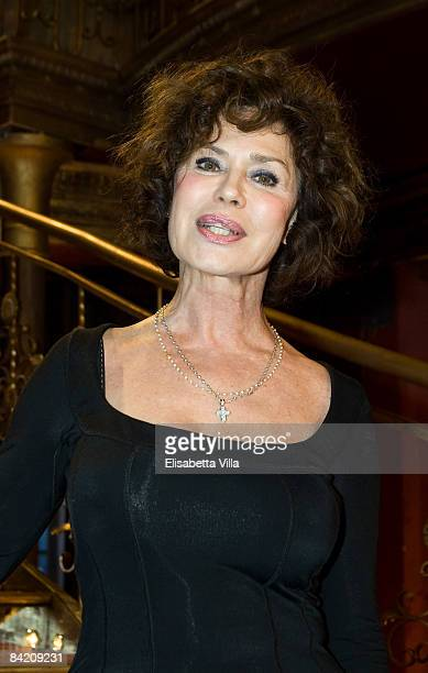 Actress Corinne Clery attends photocall of the Italian TV show Strictly Come Dancing on January 8 2009 in Rome Italy