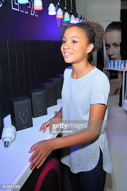 Actress Corinne Massiah attends Kari Feinstein's Style Lounge presented by LIFX on February 25 2016 in Los Angeles California