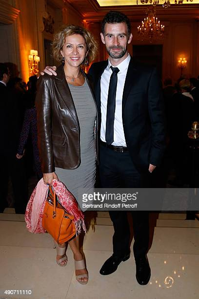 Actress Corinne Touzet and Vincent Chatelain attend the Charity Dinner to Benefit 'Claude Pompidou Foundation', held at 'Four Seasons Hotel George V'...