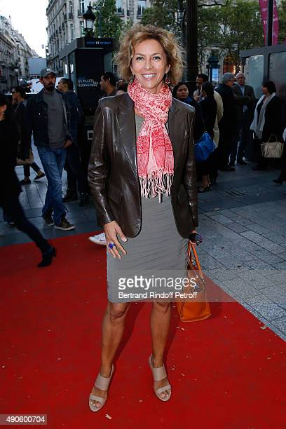 Actress Corinne Touzet attends the 'Le nouveau Stagiare' movie Premiere to Benefit 'Claude Pompidou Foundation', held at Cinema 'UGC Normandie' on...