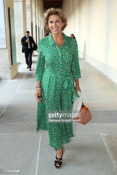 "Actress Corinne Touzet attends the ""Tosca - Opera en Plein Air"" performance at Les Invalides on September 04, 2019 in Paris, France."