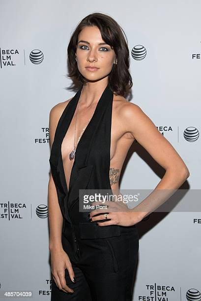 Actress Cortney Palm attends the premiere of 'Zombeavers' during the 2014 Tribeca Film Festival at Chelsea Bow Tie Cinemas on April 19 2014 in New...