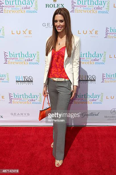 Actress Cory Oliver attends BH100 Centennial Block Party On Rodeo Drive on April 27 2014 in Beverly Hills California