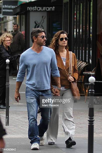 Actress Cote de Pablo and boyfriend Diego Serrano are sighted strolling on 'Rue de Rivoli' on May 9 2012 in Paris France