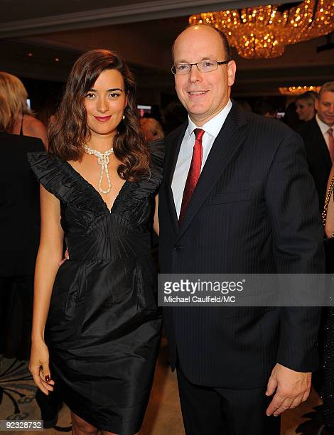 OUT*** Actress Cote de Pablo and HSH Prince Albert II of Monaco attend the Monte Carlo Television Festival cocktail party held at the Beverly Hills...