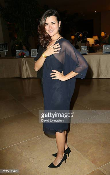 Actress Cote de Pablo arrives at the Extraordinary Families Gala at The Beverly Hilton Hotel on April 20 2016 in Beverly Hills California