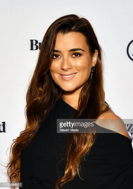 Actress Cote De Pablo star of CBS' NCIS visits BuzzFeed's AM To DM on September 23 2019 in New York City