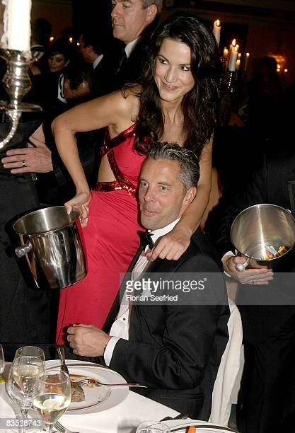 Actress countess Mariella von FaberCastell and husband earl Patrick von FaberCastell during the Unesco Benefit Gala For Children 2008 at Hotel...