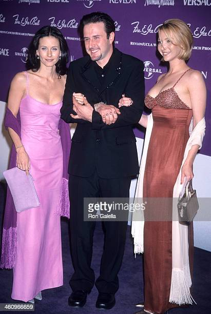 Actress Courteney Cox actor David Arquette and actress Lisa Kudrow attend the Ninth Annual Fire Ice Ball to Benefit Revlon/UCLA Women's Cancer...