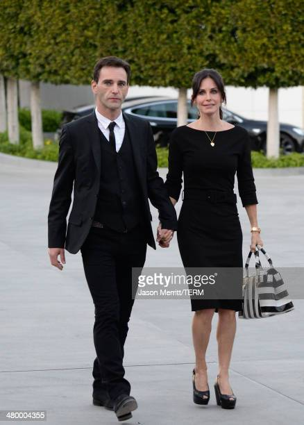Actress Courteney Cox and boyfriend Johnny McDaid attend an Evening of Environmental Excellence presented by The UCLA Institute Of The Environment...