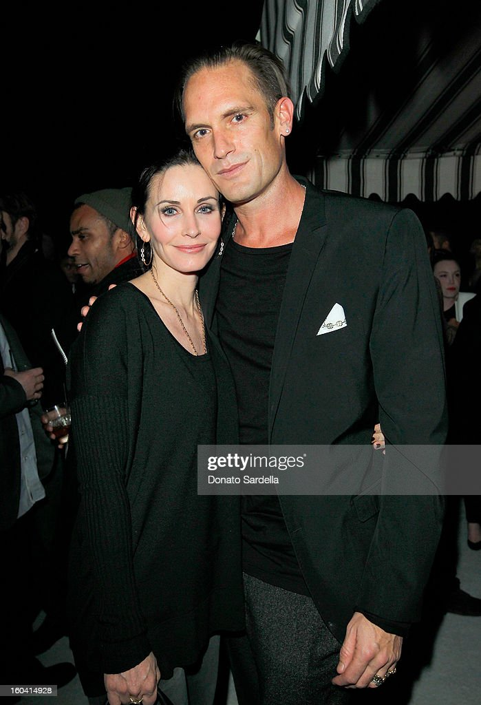 Actress Courteney Cox (L) and Brand Ambassador for Kether Parker, Kether Parker of Hoorsenbuhs attend Hoorsenbuhs for Forevermark Collection cocktail party at Chateau Marmont on January 30, 2013 in Los Angeles, California.