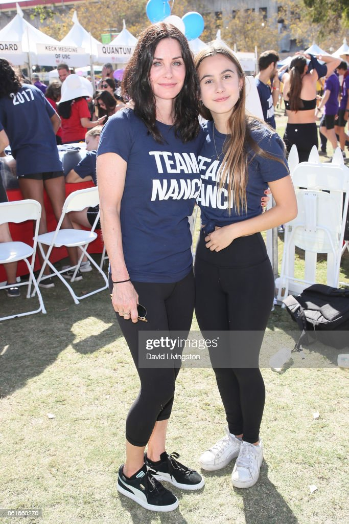 Actress Courteney Cox and Coco Arquette attend Nanci Ryder's 'Team Nanci' at the 15th Annual LA County Walk to Defeat ALS at the Exposition Park on October 15, 2017 in Los Angeles, California.