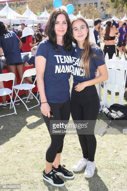 Actress Courteney Cox and Coco Arquette attend Nanci Ryder's 'Team Nanci' at the 15th Annual LA County Walk to Defeat ALS at the Exposition Park on...