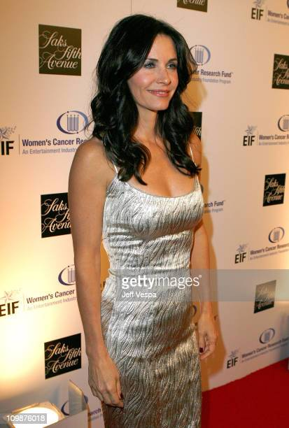Actress Courteney Cox Arquette arrives at the Unforgettable Evening Benefiting the Industry Foundation held at the Beverly Wilshire Hotel on February...