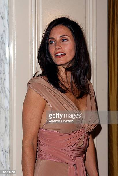 Actress Courteney Cox Arquette arrives at the Wellness Community of West Los Angeles Human Spirit Awards Gala at the Regent Beverly Wilshire Hotel on...