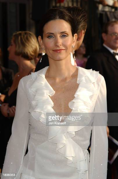 Actress Courteney Cox Arquette attends the 9th Annual Screen Actors Guild Awards at the Shrine Auditorium on March 9, 2003 in Los Angeles, California.