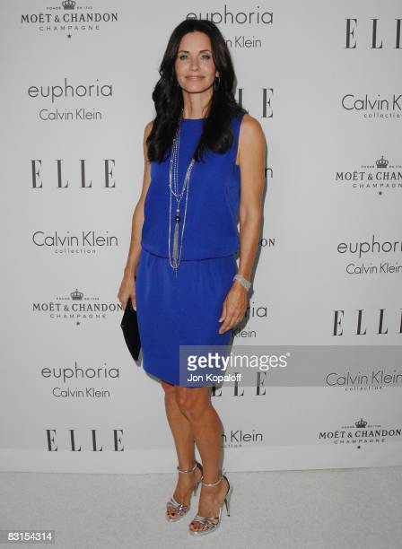 """Actress Courteney Cox arrives at """"Elle Magazine's 15th Annual Women in Hollywood Tribute"""" at the Four Seasons Hotel on October 6, 2008 in Beverly..."""