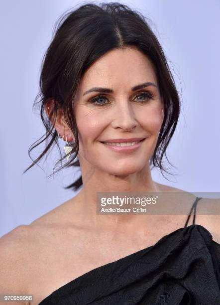 Actress Courteney Cox arrives at the American Film Institute's 46th Life Achievement Award Gala Tribute to George Clooney on June 7 2018 in Hollywood...