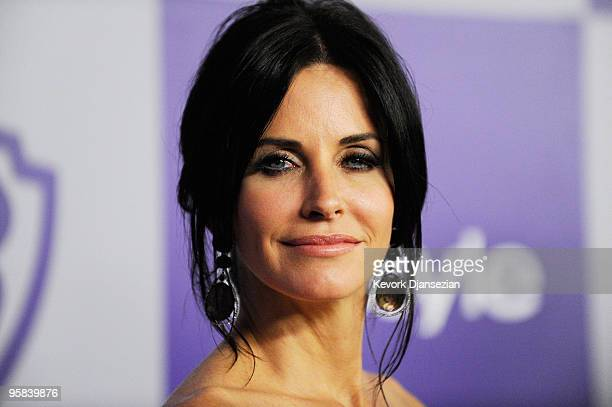 Actress Courteney Cox arrives at the InStyle and Warner Bros 67th Annual Golden Globes after party held at the Oasis Courtyard at The Beverly Hilton...