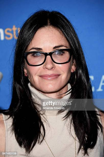 Actress Courteney Cox arrives at the premiere of Amazon Studios' 'Gleason' at the Regal LA Live Stadium 14 on July 14 2016 in Los Angeles California