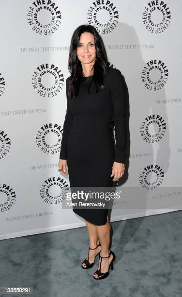 Actress Courteney Cox arrives at the special premiere screening of Cougar Town at The Paley Center for Media on February 8 2012 in Beverly Hills...