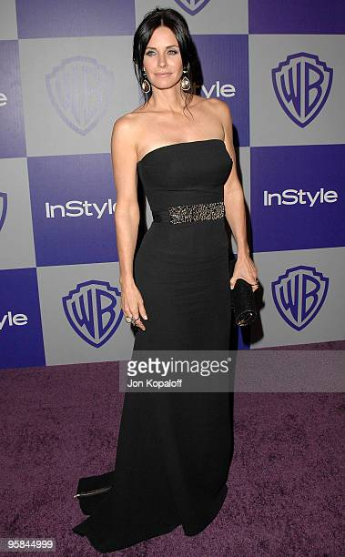 Actress Courteney Cox arrives at the Warner Brothers/InStyle Golden Globes After Party at The Beverly Hilton Hotel on January 17 2010 in Beverly...