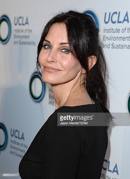 Actress Courteney Cox attends an Evening of Environmental Excellence presented by The UCLA Institute Of The Environment And Sustainability at Private...