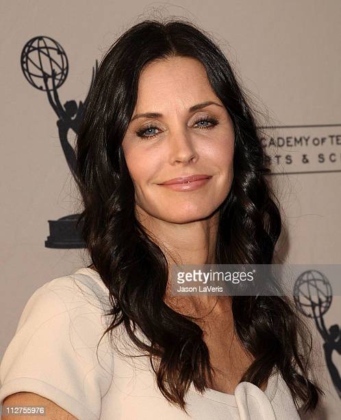 Actress Courteney Cox attends an evening with 'Cougar Town at Leonard H Goldenson Theatre on April 20 2011 in North Hollywood California