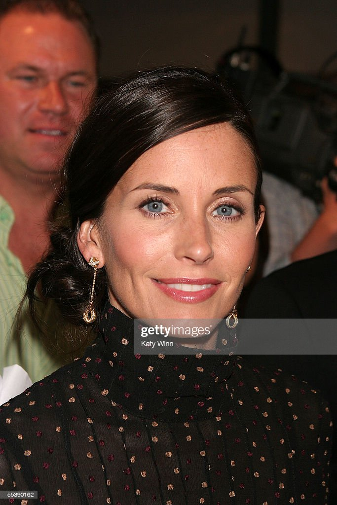 Actress Courteney Cox attends day 4 of Olympus Fashion Week Spring 2006 at Bryant Park September 12, 2005 in New York City.