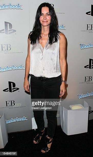 Actress Courteney Cox attends EBMRF Sony PlayStation's Epic Halloween Bash hosted by James Marsden and Courteney Cox on October 27 2012 in Los...