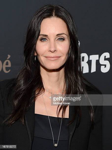 Actress Courteney Cox attends PS ARTS Presents LA Modernism Show Opening Night at The Barker Hanger on April 25 2013 in Santa Monica California