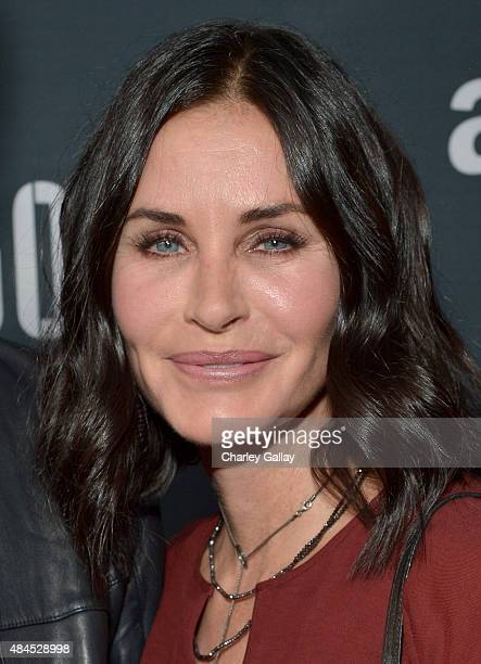 Actress Courteney Cox attends the Amazon premiere screening for original drama series 'Hand Of God' at The Theatre at Ace Hotel on August 19 2015 in...