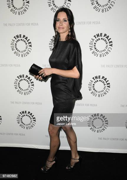 Actress Courteney Cox attends the Cougar Town event at the 27th Annual PaleyFest at Saban Theatre on March 5 2010 in Beverly Hills California